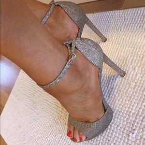 Never worn! Badgley Mischka sandals